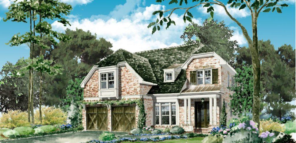 Jim Chapman Communities Rendering Of One Only Twelve Homes In The Homestead At Ridgewood Heights Buckhead